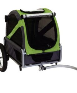 DoggyRide Mini Dog Bike Trailer, Spring Green/Grey