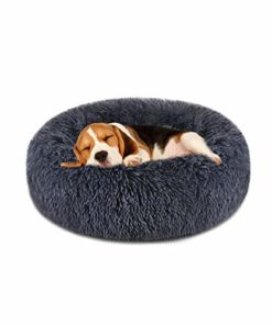 """FOCUSPET Dog Bed Donut, Faux FurCuddler Bed Size Medium 23"""" for Cats & Dogs Round Ultra Soft WashableSelf Warming Pet Cuddler Beds"""