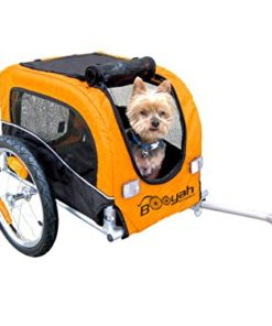 Booyah Small Dog Pet Bike Bicycle Trailer Pet Trailer Orange