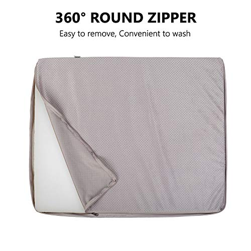 JoicyCo Dog Beds for Medium Dogs Pet Beds Dog Mats Crate Mat Foam Cushion Sofa Anti-Slip with Washable Cover 31.50″