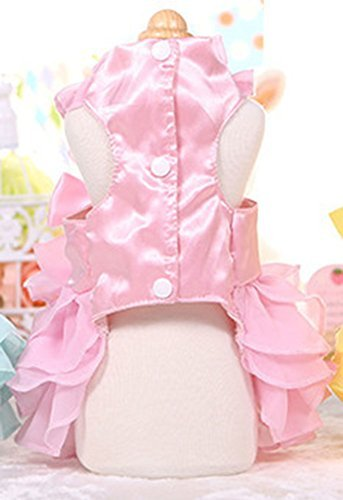 MaruPet Fashion Sweet Puppy Dog Love Printed Princess Skirt Pet Dog Pleated Camisole Tutu Dress Pink M