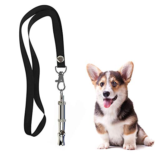 SSRIVER Puppy Training Kit 6 Pcs Adjustable Puppy Doorbells for Dogs Training Bag Whistle to Control Stop Barking Dog Bowl and Poop Bag Pet Trainer Dog Training Set Clicker