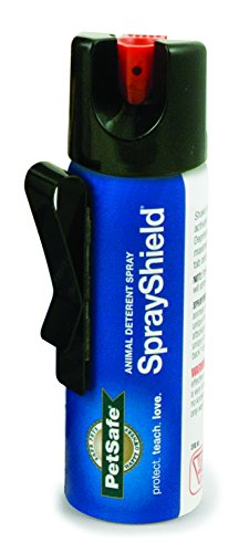 PetSafe SprayShield Animal Deterrent with Clip, Citronella Spray up to 10 ft, Protect Yourself and Your Pets – PTA00-14718
