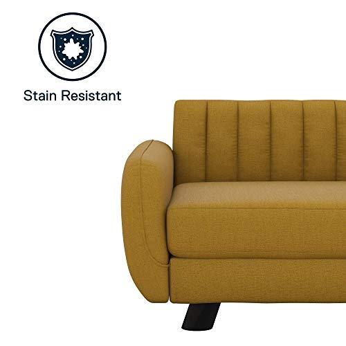 Novogratz Brittany, Small/Medium Size Pet Bed,Mustard Yellow Sofas