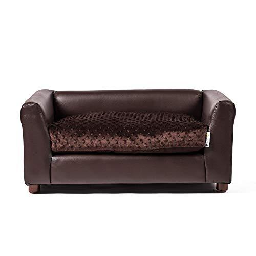 Keet Fluffly Deluxe Pet Bed Sofa Chocolate Medium