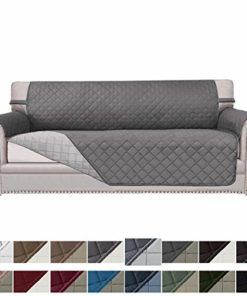 Easy-Going Sofa Slipcover Reversible Sofa Cover Water Resistant Couch Cover Furniture Protector with Elastic Straps for Pets Kids Children Dog Cat(Sofa, Gray/Light Gray)