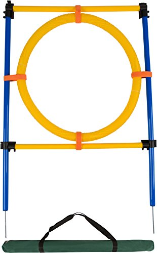 Trademark Innovations 26″ Diameter Dog Agility Jumping Training Hoop with Carry Bag