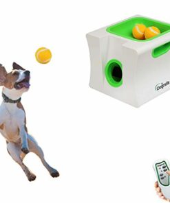 IDOGMATE Automatic Ball Launcher Dog Toy, Ball Thrower for Small Dog (Small Machine with 3 Balls)