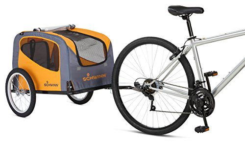 Schwinn Rascal Bike Pet Trailer, For Small and Large Dogs, Small, Orange