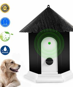 Anti Barking Device, Ultrasonic Dog Bark Controller, Waterproof Outdoor Anti Bark Control System in Birdhouse Shape