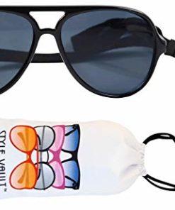 G010 Dog pets Aviator Turbo Sunglasses w strap retainer M-L dogs 20lb&over (Black, uv400)