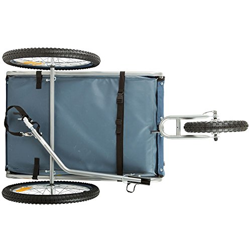 Rage Powersports Blue 2-in-1 Pull-Behind Dog Bike Carrier Bicycle Pet Trailer