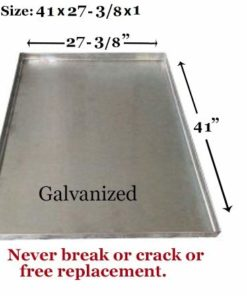 Pinnacle Systems Replacement Tray for Dog Crate – Chew-Proof and Crack-Proof Metal Pan for Dog Crates (Galvanized, 41×27-3/8×1)