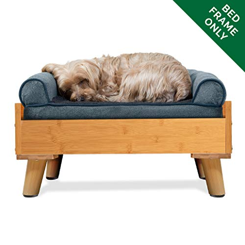 Furhaven Pet Dog Bed Frame | Mid-Century Modern Style Bed Frame Furniture for Pet Beds & Mattresses, Bamboo, Small