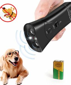 LEKETI Handheld Dog Repellent, Ultrasonic Infrared Dog Deterrent,Anti-Barking Device,Indoor/Outdoor NO Hurt Humane Safe for Small Medium Large Dogs
