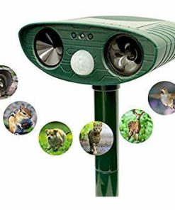 Enternal star Animal Repeller and Solar Pest Effective & Humane Outdoor Deterrent for Bird, Cat, Dog, Squirrel Ultrasonic Waterproof Repellent
