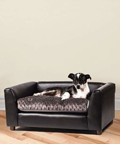 Keet Fluffly Deluxe Pet Bed Sofa Chocolate Medium