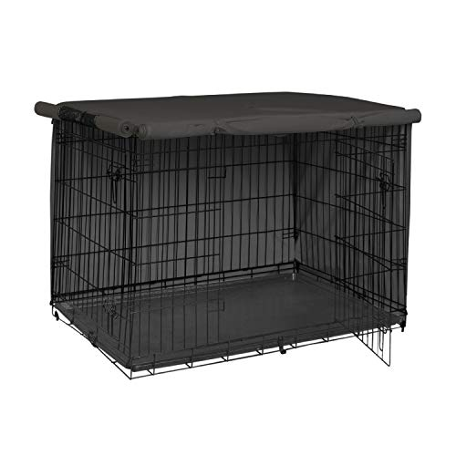 Explore Land 36 inches Dog Crate Cover – Durable Polyester Pet Kennel Cover Universal Fit for Wire Dog Crate (Black)