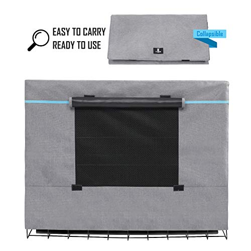 X-ZONE PET Indoor/Outdoor Dog Crate Cover, Polyester Crate Cover or Durable Windproof Kennel Covers for Wire Dog Crates