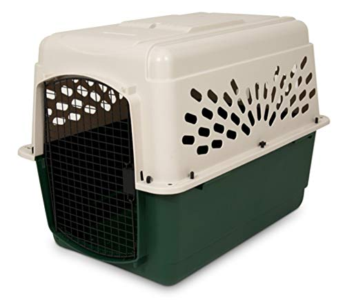 Petmate 21796 Ruffmaxx Travel Carrier Outdoor Dog Kennel, 360° Ventilation, 40″, Multi