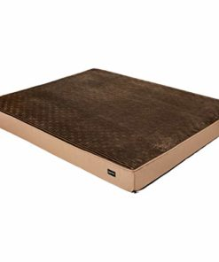 AmazonBasics Foam Pet Bed for Cats or Dogs – X-Large, Brown Flannel