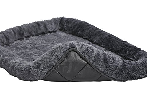 36L-Inch Gray Dog Bed or Cat Bed w/ Comfortable Bolster | Ideal for Medium / Large Dog Breeds & Fits a 36-Inch Dog Crate | Easy Maintenance Machine Wash & Dry | 1-Year Warranty