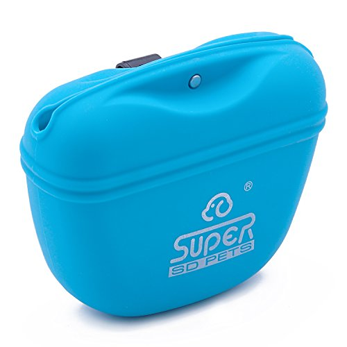 Super Design Dog Training Clicker Training Bag Pack – Hands Free Silicone Treat Pooch Pouch and Big Button Clicker
