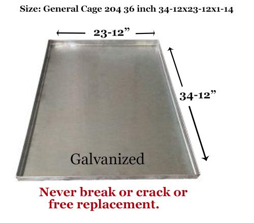 Metal Replacement Tray for Dog Crate – Heavy Duty – Chewproof – Kennel Replacement Pan – Chew Proof & Crack Proof Pet Kennel Tray – Replacement Pan for Midwest Central Metal Crates – Dog Cage Tray