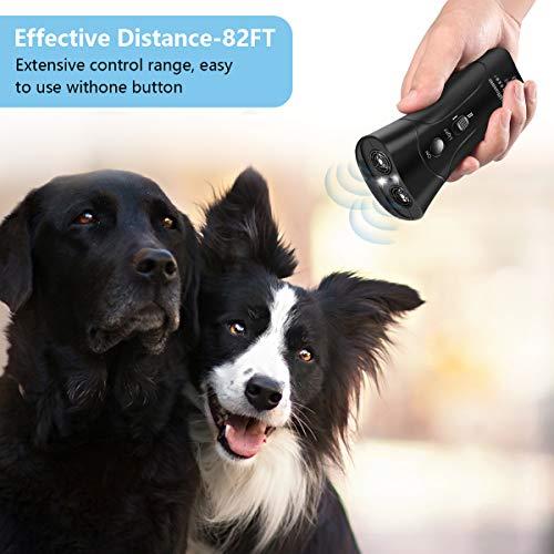 LEKETI Handheld Dog Repellent, Ultrasonic Infrared Dog Deterrent,Anti-Barking Device,Indoor/Outdoor NO Hurt Humane Safe for Small Medium Large Dogs