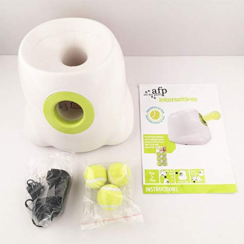 All for Paws Interactive Dog Automatic Ball Launcher, 3 Tennis Balls Included, New Version