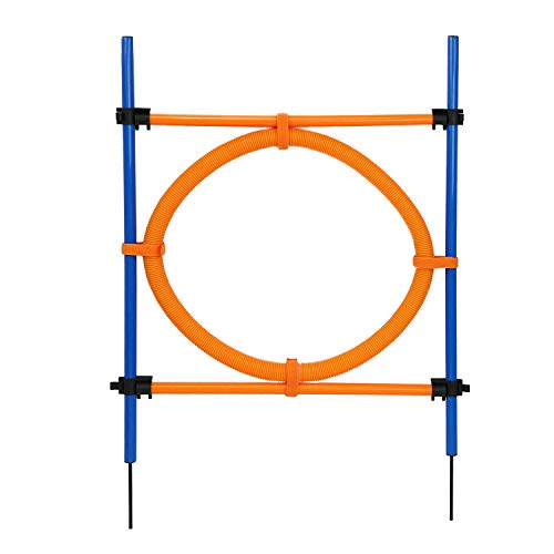 MiMu Dog Agility Equipment – Dog Agility Ring Dog Obstacle Course Agility Set, Dog Agility Training Equipment