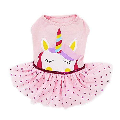 kyeese Dog Girl Dress Unicorn Pet Dresses for Medium Dogs Birthday Dresses Tutu Dress