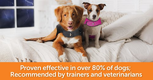 ThunderShirt Classic Dog Anxiety Jacket | Vet Recommended Calming Solution Vest for Fireworks, Thunder, Travel, & Separation | Heather Gray, Small