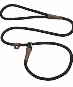 Mendota Products Pet Dog Slip Lead, 3/8″ x 6′, Black (02603)
