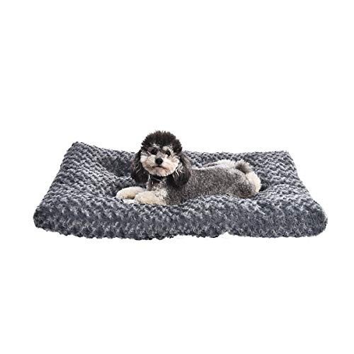 AmazonBasics Pet Dog Bed Pad, 35 x 23 x 3 Inch, Grey Swirl