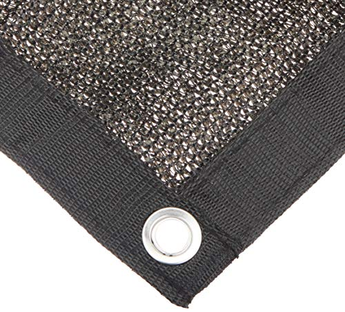 WindscreenSupplyCo 6ft x 12ft Dog Kennel Shade Covers, 85% Sunblock Shade, Top and Side Coverage, Knitted Shade Cloth with Grommets, Black, (Not The Kennel)