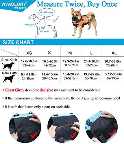 Vivaglory Dog Life Jacket Size Adjustable Dog Lifesaver Safety Extra Bright Yellow Vest Pet Life Preserver, Extra Bright Yellow, Small