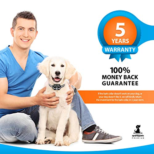 Smart Rechargeable Humane Bark Collar – Anti Barking Dog Collars with Beep Vibration, No Harm Shock, 5 Sensitivity Levels – Adjustable for Large, Medium or Small Dogs – Smart Q9 Bark Control Device