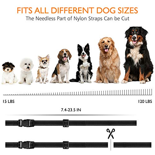HVRSTVILL Dog Bark Collar Effective for Small Medium Large Dogs with Beep Vibration and Harmless Shock – Rechargeable Anti Bark Training Collar, Safely and Humane Dog Shock Collar, Adjustable Belt