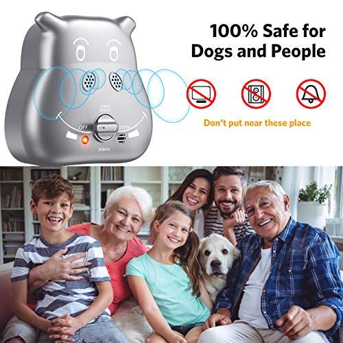 ulocool Anti Barking Device, 2020 New Ultrasonic Dog Bark Deterrent with 3 Adjustable Ultrasonic Volume Levels, Automatic Bark Control Device for Small Medium Large Dog Outdoor
