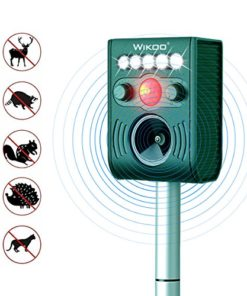 FRYZOO Ultrasonic Pest Animal Expeller Outdoor Solar Powered with Motion Sensor, Repel Cat Dog Deer Bird, Waterproof Expeller for Farm, Garden