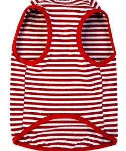 PetVogue Dog Clothes Striped Shirts for Small Medium Pitbull Large Dogs,Red M