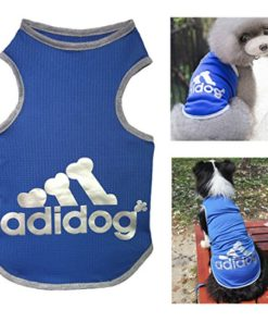 Trudz PET Adidog Dog T Shirt, Rdc Pet Dog Shirts, Dog Clothes Summer Tank Top Vest from S to 9X-Large for Small Dog, Medium Dog, Large Dog (Blue, XL)