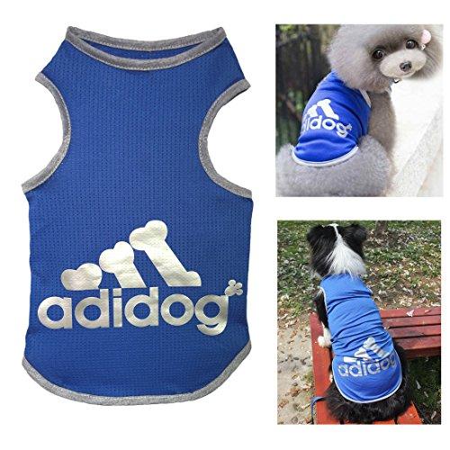 Trudz PET Adidog Dog T Shirt, Rdc Pet Dog Shirts, Dog Clothes Summer Tank Top Vest from S to 9X-Large for Small Dog, Medium Dog, Large Dog (Blue, XL)