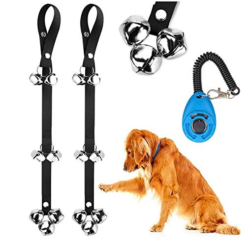 2 Pack Dog Doorbells Premium Quality Training Potty Great Dog Bells Adjustable Door Bell Dog Bells for Potty Training Your Puppy The Easy Way – Premium Quality – 7 Extra Large Loud 1.4 DoorBells
