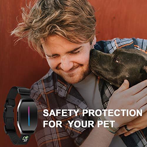 Bark Collar – Effective Dog Bark Collar w/No Shock Mode, Sound Activated, Training Collar w/LED Indicator & 5 Sensitivity Levels, Easy to Use Bark Collar Large Dog
