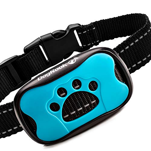 DogRook Rechargeable Bark Collar – Humane, No Shock Training Collar – Action Without Remote – Vibration & Sound Care Modes – for Small, Medium, Large Dogs Breeds – No Harm Deterrent Vibrating Control