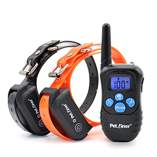 Petrainer Shock Collar for Dogs – Waterproof Rechargeable Dog Training E-Collar with 3 Safe Correction Remote Training Modes, Shock, Vibration, Beep for Dogs Small, Medium, Large