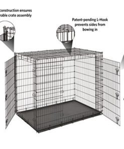 MidWest Homes for Pets XXL Giant Dog Crate   54 Inch Long Ginormous Double Door Dog Crate Ideal for a Great Dane, Mastiff, St. Bernard & Other XXL Dog Breeds