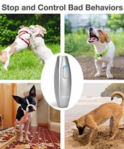 MODUS Bark Control Device – Ultrasonic Dog Bark Deterrent, 2 in 1 Dog Behavior Training Tool of 16.4 Ft Effective Control Range, Safe to use, with LED Indicator/Wrist Strap Outdoor Indoor